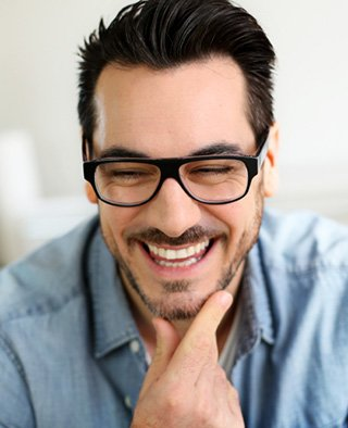 Funny mature man with beautiful smile